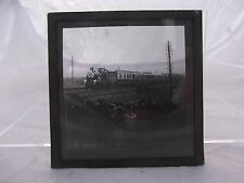 (51) Vintage B&W Railway Locomotive Photo Slide # Royal Train & Spectators ?