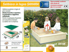 sabbiera gioco in legno per bambini con copertura e tappetino gioco giardino