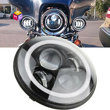 7inch Projector Daymaker Black Led Headlight Fit Harley Street Glide Softail FLD