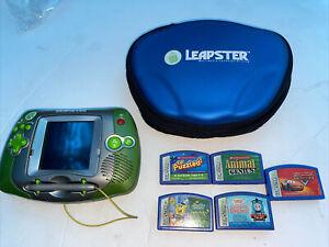 Leapfrog Leapster Explorer Kids Learning System Plus 5 Games W/ Power Supply