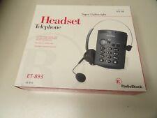 Headset Telephone Super Lightweight RadioShack ET-893 RadioShack NEW