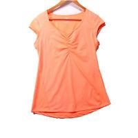 Apana Women's Bright Orange Athletic Top - Size Medium