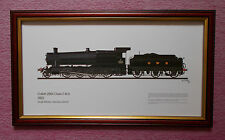 FRAMED PRINT OF COLLETT 2884 CLASS 2-8-0 3822 GREAT WESTERN SOCIETY, DIDCOT