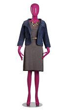 "Female Mannequin Hot Pink 31"" Bust; 26"" Waist 33 ½"" Hips 5' 8"" Full Body"