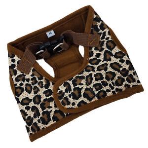 Pet Dog Canvas Chest Harness Vest - Size (Leopard Print)