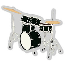 "Bass Drum Set musical instrument band sticker 6"" x 4"""
