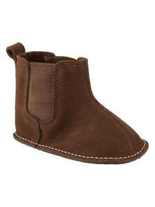 BABY GAP BOYS BROWN SEQUOIA PULL-ON BOOTS ORG. $19.95 0-3 MONTH BNWT