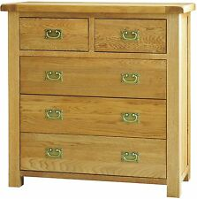 Grasmere solid oak furniture 2 over 3 bedroom chest of drawers