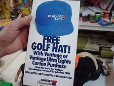 NEW BLUE VANTAGE SMOKING HAT ADJUSTABLE BALL CAP HAT NEW IN BOX