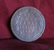 1 Cent 1862 British India Straits Settlements World Coin Malaysia Victoria Malay