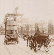 FOTO NAPOLI 1900 PREPARAZIONE CARRO PER LA FESTA S. MARIA DELLA NEVE