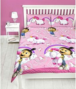 Despicable Me Minions Daydream Double Duvet Cover Set Reversible Kids Girls Bed