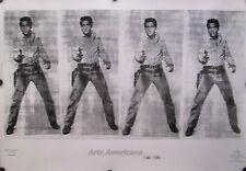 "ANDY WARHOL 4 ELVIS 1992 POSTER 27 1/2"" X 39 1/2"" MINT"
