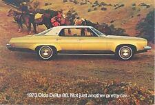 1973 Oldsmobile Delta 88 ORIGINAL Factory Postcard mx9854