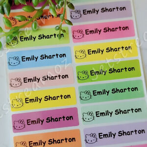 36 Mixed Color Personalised name Label Stickers School book vinyl 46x13mm