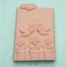 Silicone Soap/Candle Mold/Mould One Cavity - Let's Be Friends