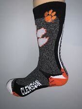 CLEMSON TIGERS NCAA COLLEGE JERSEY LOGO VERTICAL SOCKS MENS LARGE