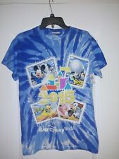 Walt Disney World 2015 Blue Tie Dye Shirt  - Adult Small - New with Tags