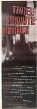 """22/2/92Pgn04 Advert: three Minute Heroes Finest Punk & New Wave Hits 15x5"""""""