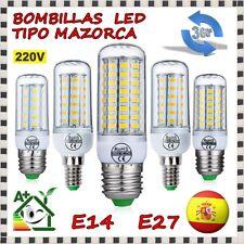 Bombilla de led tipo mazorca lámpara SMD 5730 luz luces corn bulb 360º E27 E14