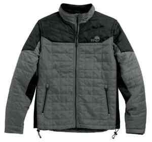 Harley-Davidson Men's Turret Packable Jacket Gray 97567-16VM Zip Out Sleeves