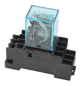 Relais 4x UM auch für Hutschiene geeignet 5A 12V 220V 230V 250V Hutschienen