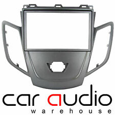 Ford Fiesta 2008 On Car Stereo Radio Graphite Grey Double DIN Facia Fascia Panel