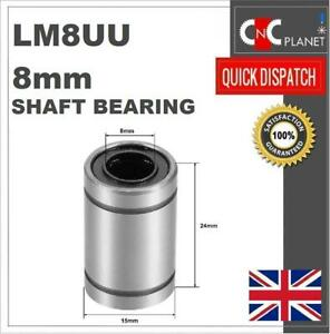 LM8UU 8mm Linear shaft bar Rail slide Bearing Motion 3D Printer CNC machine UK