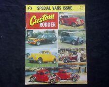 Custom Rodder Australia Issue 27 1975, Holden HT Panel Van 1934 Ford Coupe Willy