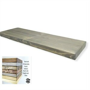 Floating Wall Wood Shelves. Rustic Style. Grey And Oak Colours. Various Length.