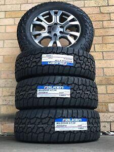 18 Inch Genuine Ford Ranger Wildtrak Set Of Wheels And Falken AT3 Tyres New Set