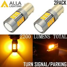 Alla Lighting 1157 54-LED Turn Signal Blinker Parking Light Bulb, Amber Yellow