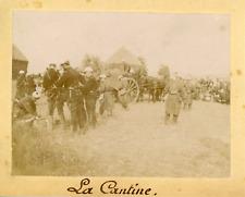 France, Militaires et une cantine en plein air, ca.1895, vintage citrate print V