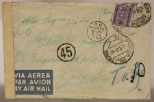 POSTA MILITARE n° 3 VIA AEREA, CON BOLLI DI CENSURA TASSATA 3.8.1942 #XP3