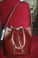Dooney Bourke Serena Drawstring bucket Montecito Burgundy Taupe HOBO NWT $348