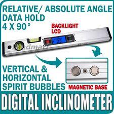 Inclinómetro Digital de Nivel 360 ° Ángulo Buscador Upright Imanes Spirit Level