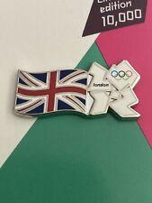 London 2012 Olympic White Logo & Union Flag Pin Badge