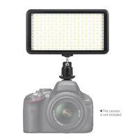 228*LED Video Light Lamp Panel Dimmable 2000LM for DSLR Camera DV Camcorder F1K5