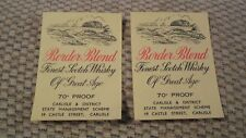 FOUR GENUINE WHISKY LABELS. Carlisle & District State Management Brewery