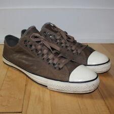 CONVERSE X JOHN VARVATOS Brown Leather Multi Eyelet Shoes Sneakers Men's 11