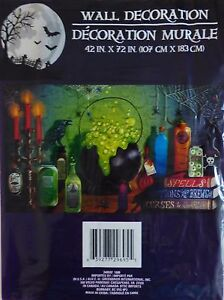 HALLOWEEN Spooky Decorative Plastic Wall Mural ~Halloween Spells (FREE SHIPPING)