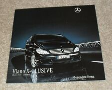 Mercedes Viano X-Clusive Brochure 2010 - Exclusive 3.0 CDI & 3.5
