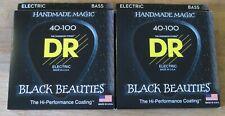 DR BKB-40 Black Beauties Electric Bass Strings - 40-100 - 2 packs