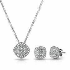 Cubic Zirconia White Gold Plated Costume Jewellery Sets
