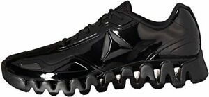 Reebok Zig Pulse SE Patent Leather Running Shoes Black Size 14