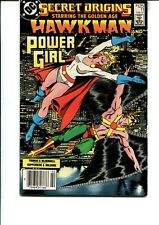 SECRET ORIGINS #11 VF (STARRING THE GOLDEN AGE HAWK-MAN AND POWER-GIRL)