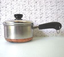 1qt Revere Ware 1801 Copper Clad Bottom Stainless Saucepan & Lid, ROME, NEW YORK