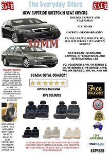 Holden Caprice/Statesman All Year Premium Sheepskin Seat Covers Pr Abg Safe 30MM