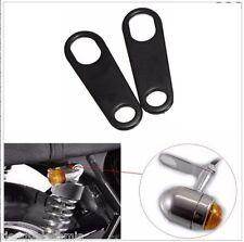Pattes de fixation pour clignotants à l'arrière Noir ( moto custom amortisseur )