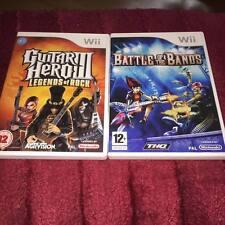 Guitar Hero 3 legends of rock and Battle of the Bands Nintendo Wii
